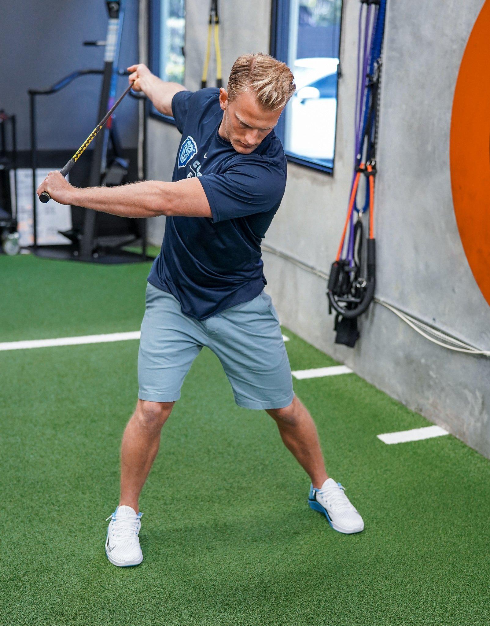 drill mimicking swing follow-through